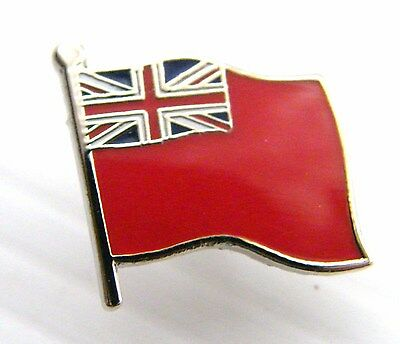 The Royal Navy Ensign Rn Red Badge Flag Military Naval Pin Free Gift Pouch Mod A