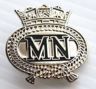 Merchant Navy Badge Merchent Naval Military Rn Lapel Pin In Free Gift Pouch