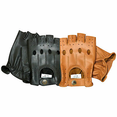 Brand new top quality real soft leather finger less men's driving gloves 309