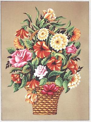 Gobelin L  Printed Tapestry Canvas - Summer Basket