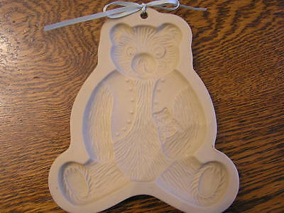 "1984 Brown Bag Cookie Art 6"" TEDDY BEAR w/ Baby Bear Cookie/Candy/Wax Mold"