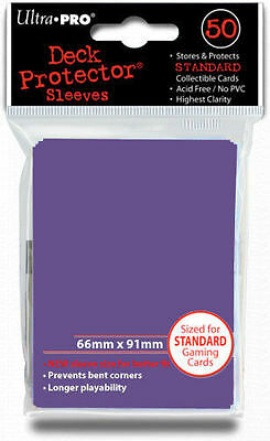 50 Count Purple Ultra Pro Deck Protector Card Sleeves Storage Pokemon MTG Sports