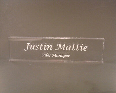 Acrylic Name Plate Desk Bar Personalized Nameplate