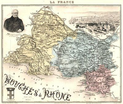 1900 now europe maps atlases globes antiques for Departement bouche du rhone