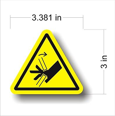 Industrial Safety Decal Sticker caution PINCH POINT warning label