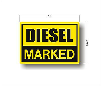 Industrial Safety Decal Sticker MARKED DIESEL label