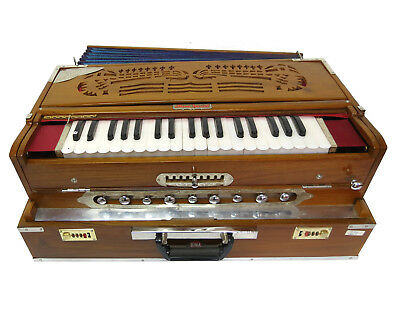Indisches Harmonium Teakwood Kirtan Mantra Scalechanger Triple Reed 2.wahl