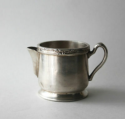 Vintage Wear Brite Nickel Silver Soldered Creamer Small Pitcher Grand Silver Co