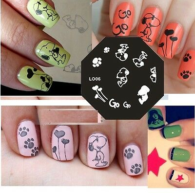 New Stamping Device Nail Art Plate LO06 snoopy - NEW STAMPING DEVICE Nail Art Plate LO06 Snoopy - $2.99 PicClick