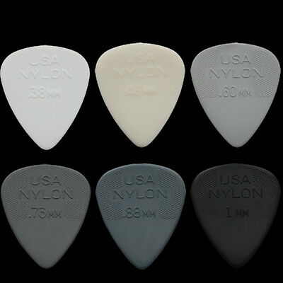 12 Dunlop Nylon Standard Guitar Picks Any Combination