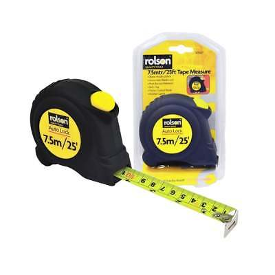 Rolson 25mm x 7.5M 16ft Measuring Tape Retractable Measure Auto Lock DIY