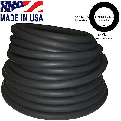 """10FT CONTINUOUS 5/16""""(8mm)OD 3/16""""(5mm)ID Latex Rubber Tubing Made in USA"""