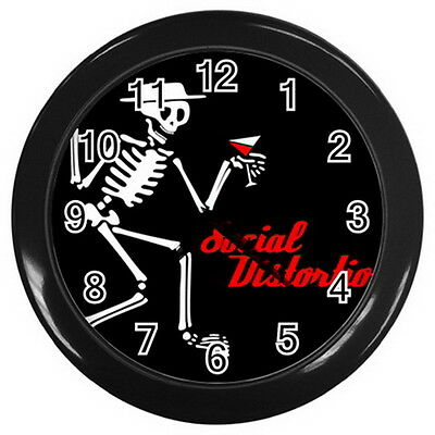 """Social Distortion wall clock (Black) 10"""" Size for home business shop"""