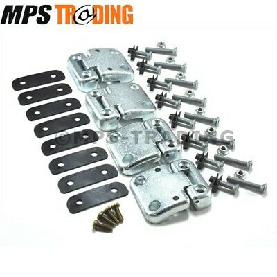 Land Rover Defender 90 Front Door Hinge Set + Fixings - Upgrade To Later Style