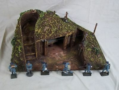 c 1934 Lineol Of Germany Model Nr 5/520 Battalion HQ Bunker With French Troops
