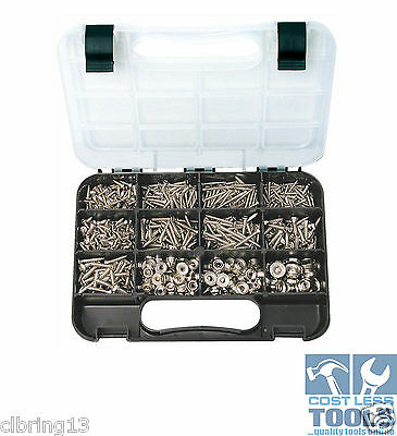 GJWorks 810 Piece Raised CSK Head Phillips Self Tapping Screw Kit GKA810