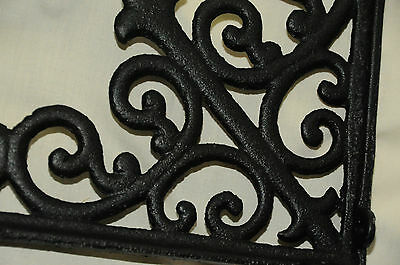 (2) Tuscan Blk Iron Corbels,(LGE)shelf brackets,countertop support,cornices NWT