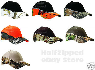 Kati Licensed Camo Cap with Barbed Wire Embroidery Hat LC4BW Mossy Oak Realtree