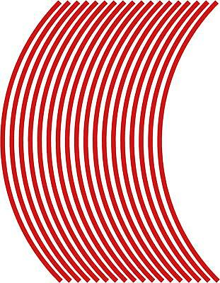 "6mm wheel rim tape striping stripes stickers upto 18"" RED.(38 pieces/9 per wheel"