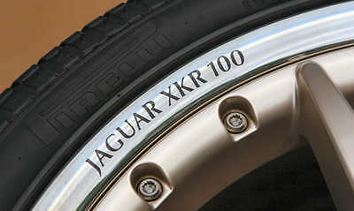 "Wheel Rim Decal - Jaguar XKR100 - 20"" - Black"
