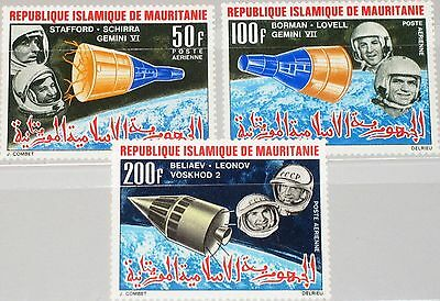 MAURITANIA MAURETANIEN 1966 270-72 C48-50 Achivements in Space Weltraum MNH