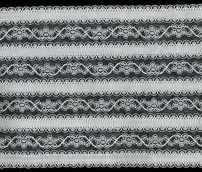 180mm / 18cm WHITE LACE TRIM - 0.5 METRE LENGTH - nylon **VERY WIDE**