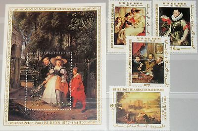 MAURITANIA MAURETANIEN 1977 590-93 Block 20 378-82 Paintings by Rubens Kunst MNH