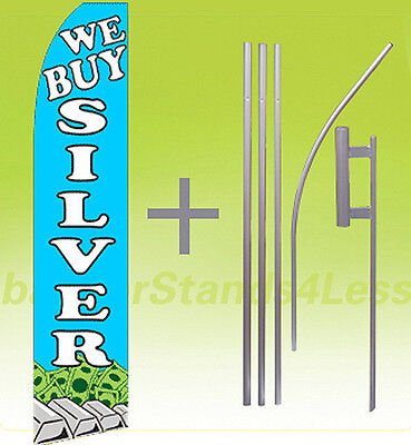 Windless Swooper Flag 15/' KIT Feather Banner Sign GREAT DEALS WOW bf