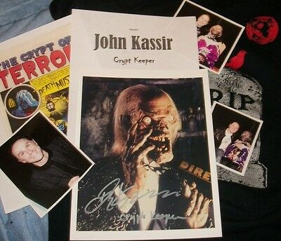 JOHN KASSIR CRYPT KEEPER Signed Photo & Photos TV Star REAL HOT