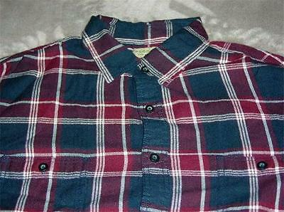 SONOMA life style Plaid Herringbone Roll-Tab Casual Button Front Shirt~$54~NWT