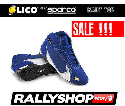 Lico By Sparco Suede Shoes Kart Top, size 40 Blue Karting Rally Sport Boots Race