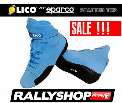 Lico By Sparco Suede Shoes Starter Top, size 37 Blue Karting Rally Sport Boots