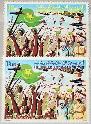 MAURITANIA MAURETANIEN 1980 678-79 451-52 Armed Forces Day Tag der Armee MNH