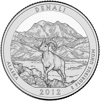 2012 P&D DENALI NATIONAL STATE PARK ALASKA QUARTER 2 SETs 4 Coins BU MS MINT PD