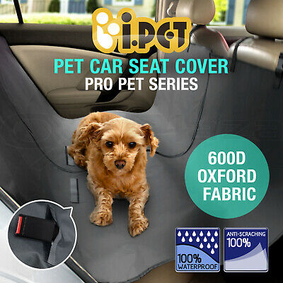 iPET Pet Car Back Seat Cover Dog Cat Waterproof Hammock Protector Mat Black