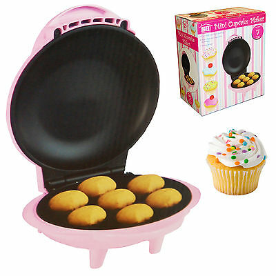 New Electric Pink 7 Mini Delicious Cupcake / Muffin Maker Non Stick Party
