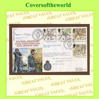 G.B. 1991 Maps set on official RAF First Day Cover, RFDC 97