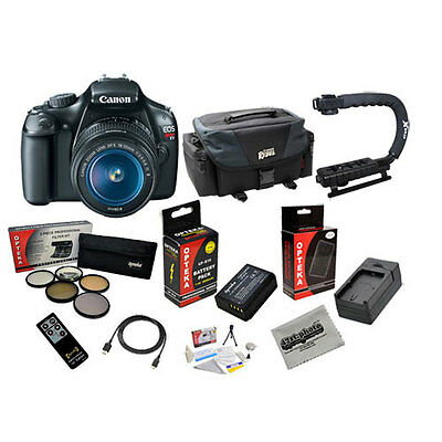Canon EOS Rebel T3 and 18-55mm IS II Lens with Canon Rebel Gadget Bag Bundle NEW