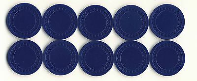 NEW 500 4g BLUE  Plastic Diamond Roulette or Poker Chips NEW Free Shipping *