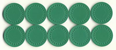 NEW 500 4g GREEN Plastic Diamond Roulette or Poker Chips NEW Free Shipping *