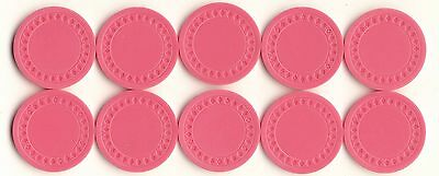 NEW 500 4g PINK Plastic Diamond Roulette or Poker Chips NEW Free Shipping *