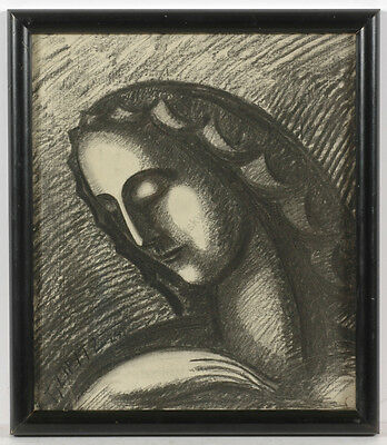 """Ferdinand Opitz (1885-1956) """"Holy Mary / Project for a sculpture"""", drawing"""