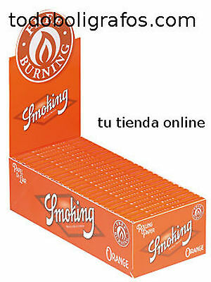 Papel de fumar Smoking orange, naranja,hacer cigarro, 50 libritos , precintado.