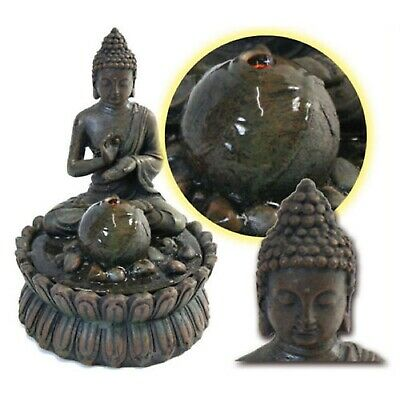 neu deko buddha statue brunnen zimmerbrunnen 25cm asia. Black Bedroom Furniture Sets. Home Design Ideas