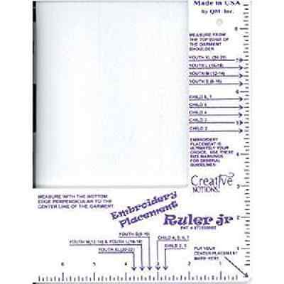Embroider's Placement Ruler-Eliminate Guesswork- Children Size