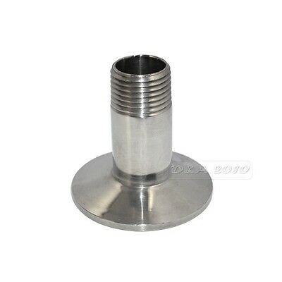 """1/2"""" DN15 Sanitary Male Threaded Pipe Fitting to TRI CLAMP (OD 50.5mm) Ferrule"""