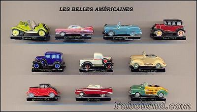 Feves NEW  LES BELLES AMERICAINES  VOITURES