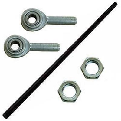 """Aluminum Shifter Rod 16"""" with rod ends and nuts long IMCA Saginaw sport mod"""