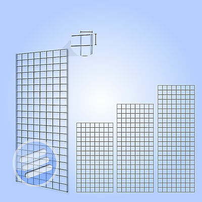 Heavy Duty Grid Wall Gridwall Mesh Chrome Display Panel Retail Shop, Accessories