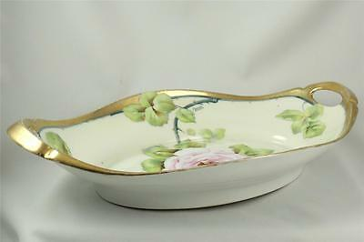 Tirschenreuth Bavaria ~ Hand Painted Artist Signed (Faune)  Handled Serving Dish